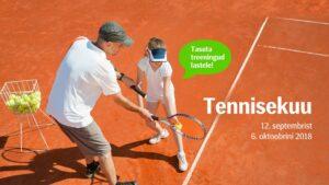 Tasuta tennisekuu lastele!