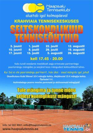 Seltskondlikud tenniseõhtud!